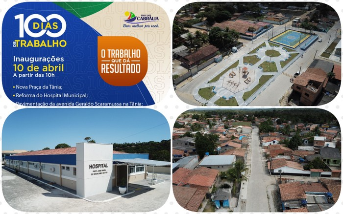 Prefeitura de Cabrália entrega muitas obras a população nos 100 primeiros dias do prefeito Agnelo