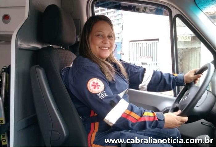 Coordenadora do SAMU de Santa Cruz Cabrália, e primeira condutora do extremo sul da Bahia.