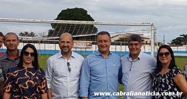 Prefeito Agnelo acompanha Robério Oliveira durante visita do governador Rui Costa