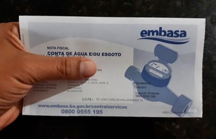 Justiça obriga Embasa a cobrar apenas pelo valor consumido nas contas de água.