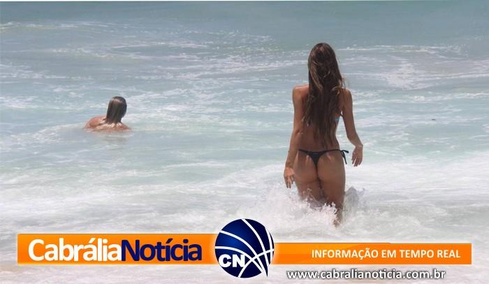 Cabrália teve final de semana quente, com praias cheias