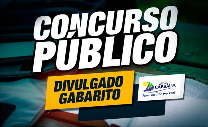 CONFIRA O GABARITO PRELIMINAR E PROVAS DISPONIVEIS DO CONCURSO PÚBLICO REALIZADO EM CABRÁLIA