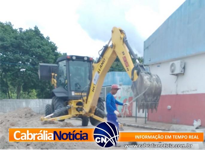Prefeitura de Cabrália faz obras em redes pluviais do Hospital municipal