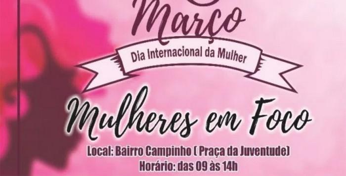 Mulheres em Foco no dia 08 de Março em Santa Cruz Cabrália