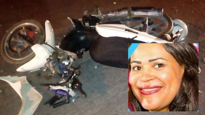 Professora morre em colisão entre carro e moto