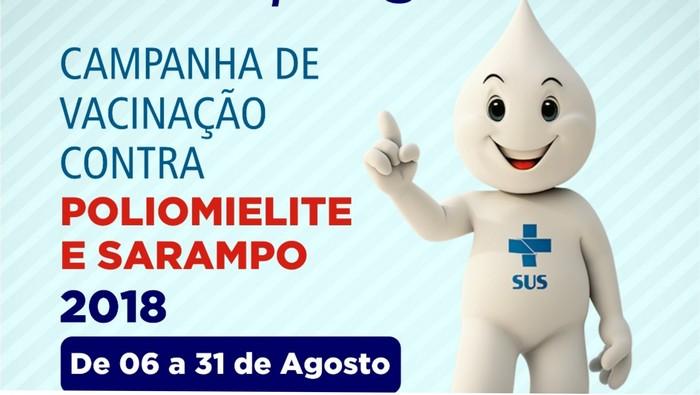 Começa hoje! Cabrália realiza Campanha de Vacinação contra Poliomielite e Sarampo