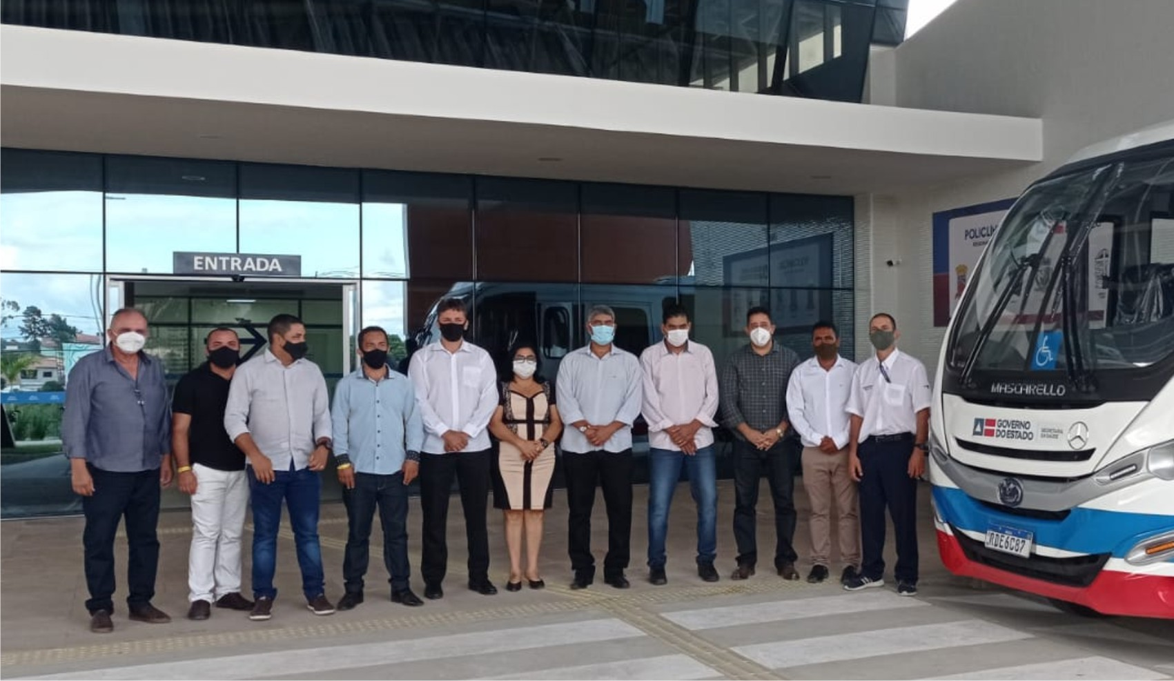 Vereadores de Cabrália marcam presença em ato de entrega da Policlínica Regional da Costa do Descobrimento