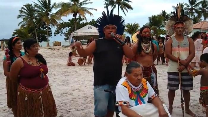 Encerramento das comemorações indígenas em Coroa Vermelha